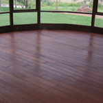 Monocoat Chocolate Oil Finish on White Oak Flooring