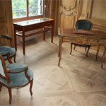 Monocoat Pure (clear) on red oak parquet